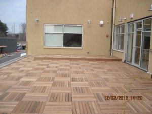 Bison IPE wood paver project in Norwalk, CT