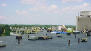 Reroofing project in Bridgeport CT