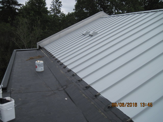Finished EPDM roof and metal restoration in Westport CT