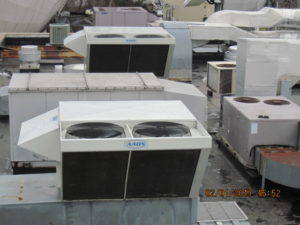 EPDM roof with lots of HVAC units