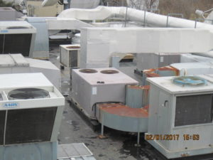 Very congested roof increases installation difficulty