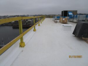 new curb installation project on TPO roof