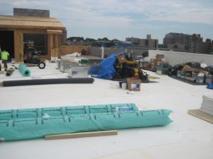 Roofing contractor on new construction in Stamford CT