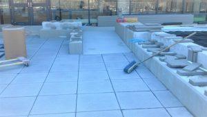 Concrete paver installation