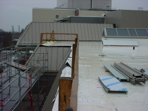 New metal roofing and TPO roofing