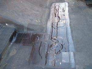 Roof repair in Stamford, CT - open lap in EPDM repair- after