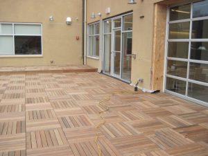 IPE wood paver installation