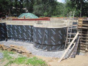 Bituthene below grade waterproofing