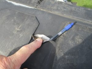 Found hole in EPDM roof