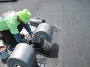 Repairs and maintenance to a roof gooseneck
